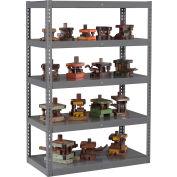"Global Industrial™ Boltless Heavy Duty Die Rack - 48""W x 24""D x 96""H - 5 Shelves - Medium Gray"