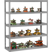 "Global Industrial™ Boltless Heavy Duty Die Rack - 72""W x 36""D x 96""H - 5 Shelves - Medium Gray"