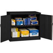 "Tennsco Jumbo Storage Cabinet J2442SU 02 - Welded 48""W X 24""D X 42""H, Medium Grey"