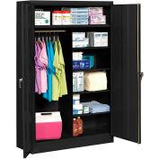 "Tennsco KD Jumbo Combination Cabinet 48""W x 24""D x 78""H Black"