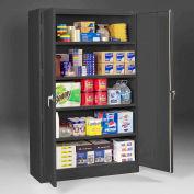 "Tennsco Jumbo Storage Cabinet J2478SU-BLK - Welded 48""W x 24""D x 78""H Black"