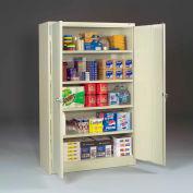 "Tennsco Jumbo Storage Cabinet J2478SU 216 - Welded 48""W x 24""D x 78""H Champagne Putty"