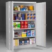 "Tennsco Jumbo Storage Cabinet J2478SU-LGY - Welded 48""W x 24""D x 78""H Light Gray"