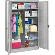 "Tennsco Welded Jumbo Combination Cabinet 48""W x 24""D x 78""H Light Grey"