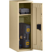 "Tennsco Single Tier Half Height Locker STS-121836-1 02 - w/Legs 1 Wide 12""x18""x36"" Welded,Med. Gray"