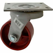 "Fairbanks Heavy-Duty Swivel Caster 25-6-DU - Ductile Iron 6"" Dia. - 2500 Lb. Capacity"