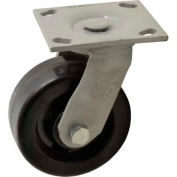 "Fairbanks Sanitation Container Swivel Caster 322-5-MCP - Phenolic 5"" Dia. - 1000 Lb. Cap."