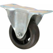 "Fairbanks Medium Duty Rigid Caster 33-3-RT - Rubber Mold-On 3"" Dia. - 170 Lb. Capacity"