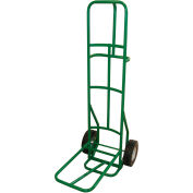 """Fairbanks Dolly for Stacking Chairs - 10"""" Full Pneumatic Wheels - Green - 12 Chair Capacity"""