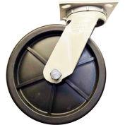 "Fairbanks Swivel Caster N22-8-PDR - Polyolefin 8"" Dia. - 800 Lb. Capacity"