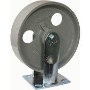 "Fairbanks Zinc Plated Rigid Caster ZN32-8 IRB - Semi-Steel 8"" Dia. - 1200 Lb. Capacity"