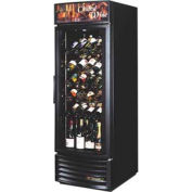 "True® GDM-23W-RF Radius Front Wine Merchandiser 1 Section - 27""W X 31-1/4""D"