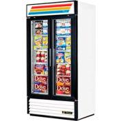 "True® GDM-35F Freezer Merchandiser 2 Section - 39-1/2'""W X 29-7/8""D X 78-5/8""H"