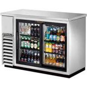 "True® TBB-24-48G-SD-S Back Bar Cooler 2 Section - 49-1/8""W X 24-1/2""D X 35-5/8""H"