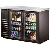 """True® TBB-24-48G Back Bar Cooler 2 Section - 49-1/8""""W X 24-1/2""""D X 35-5/8""""H"""