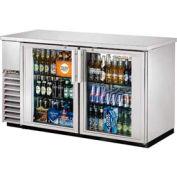 "True® TBB-24-60G-S Back Bar Cooler 2 Section - 61-1/8""W X 24-1/4""D X 35-5/8""H"