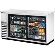 "True® TBB-24-60G-SD-S Back Bar Cooler 2 Section - 61-1/8""W X 24-1/4""D X 35-5/8""H"