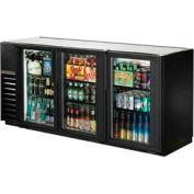 "True® TBB-24GAL-72G Back Bar Cooler 3 Section - 73-1/8""W X 24-1/2""D X 35-5/8""H"