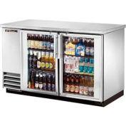"True® TBB-2G-S Back Bar Cooler 2 Section - 58-7/8""W X 27-3/4""D X 37""H"