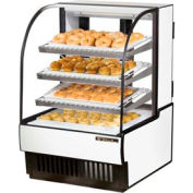 """True® TCGD-31 Curved Glass Non-Refrigerated Dry Bakery Case - 31-7/8""""W X 38-1/8""""D"""