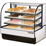 """True® TCGD-50 Curved Glass Non-Refrigerated Dry Bakery Case - 50-7/8""""W X 35-1/2""""D"""