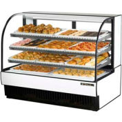 """True® TCGD-59 Curved Glass Non-Refrigerated Dry Bakery Case - 59-7/8""""W X 35-1/2""""D"""