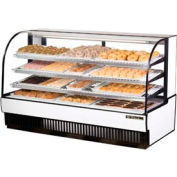 """True® TCGD-77 Curved Glass Non-Refrigerated Dry Bakery Case - 77-7/8""""W X 35-1/2""""D"""