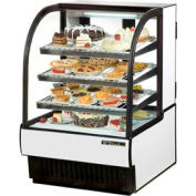 """True® TCGR-31 Curved Glass Refrigerated Bakery Case - 31-7/8""""W X 38-1/8""""D X 47-7/8""""H"""