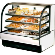 "True® TCGR-50 Curved Glass Refrigerated Bakery Case - 50-7/8""W X 35-1/2""D X 47-7/8""H"