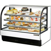 "True® TCGR-59 Curved Glass Refrigerated Bakery Case - 59-7/8""W X 35-1/2""D X 47-7/8""H"