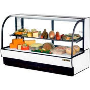 "True® TCGR-77-CD Curved Glass Display Case Cold Deli - 77-7/8""W X 35-1/2""D"