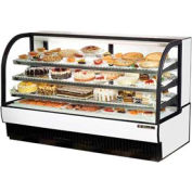 "True® TCGR-77 Curved Glass Refrigerated Bakery Case - 77-7/8""W X 35-1/2""D X 47-7/8""H"