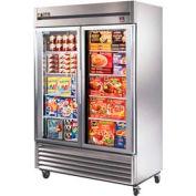 "True® TS-49FG Freezer Reach-In 2 Section - 54-1/8""W X 29-3/4""D X 78-3/8""H"