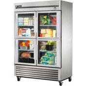 "True Stainless Steel Refrigerator - 54-1/8""W x 29-3/4""D x 78-3/8""H - TS-49G-4"