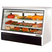 "True® TSID-72-3 Single Duty Deli Case See-Thru - 72-1/2""W X 29-1/4""D X 50-1/4""H"