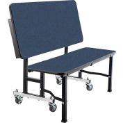 "NPS® 60"" Mobile ToGo Bench Unit - MDF with ProtectEdge - Navy"
