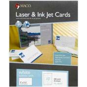"Maco® Laser/Inkjet Business Card, 3-1/2"" x 2"", White, 250 Cards/Pack"