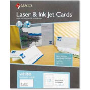 "Maco® Laser/Inkjet Business Card, 3-1/2"" x 2"", White, 2500 Cards/Pack"