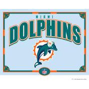 "The Memory Company NFL Logo Mirror - Miami Dolphins, 23""W x 18""H"