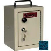 """Harloff Narcotics Box, Small, Single Door, Single Lock, 7""""W x 7""""D x 10""""H - Hammer Tone Blue"""