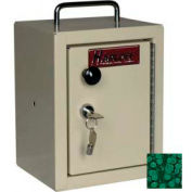"Harloff Narcotics Box, Small, Single Door, Single Lock, 7""W x 7""D x 10""H - Hammer Tone Green"