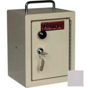 "Harloff Narcotics Box, Small, Single Door, Single Lock, 7""W x 7""D x 10""H - Light Gray"