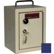 "Harloff Narcotics Box, Small, Single Door, Single Lock, 7""W x 7""D x 10""H - Navy Blue"