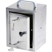 "Harloff Stainless Steel Narcotics Box, Single Door, Double Lock 7""W x 7""D x 10""H"