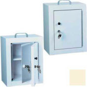 "Harloff Narcotics Box, Medium, Double Door, Double Lock 12""W x 9""D x 16""H - Beige"