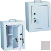 "Harloff Narcotics Box, Medium, Double Door, Double Lock 12""W x 9""D x 16""H - Light Gray"