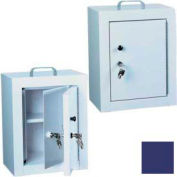 "Harloff Narcotics Box, Medium, Double Door, Double Lock 12""W x 9""D x 16""H - Navy Blue"