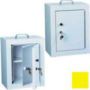 "Harloff Narcotics Box, Medium, Double Door, Double Lock 12""W x 9""D x 16""H - Yellow"