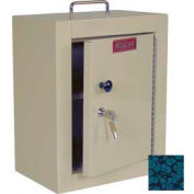 "Harloff Narcotics Box, Medium, Single Door, Single Lock, 12""W x 9""D x 16""H - Hammer Tone Blue"