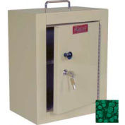 "Harloff Narcotics Box, Medium, Single Door, Single Lock, 12""W x 9""D x 16""H - Hammer Tone Green"